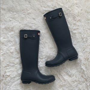 Hunter original tall rain matte boots